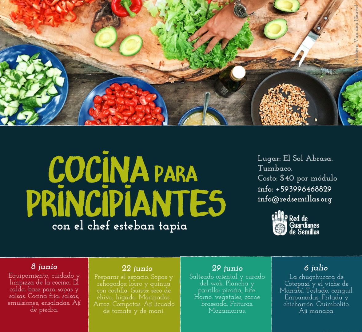 cocina-para-principiantes-red guardianes de semillas ecuador